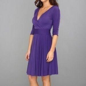BCBG Max Azria Cruz Dress Purple Large